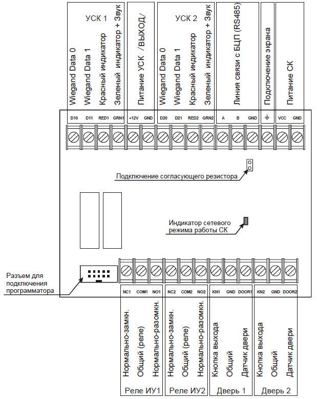 """Схема подключения """"СК-01"""""""