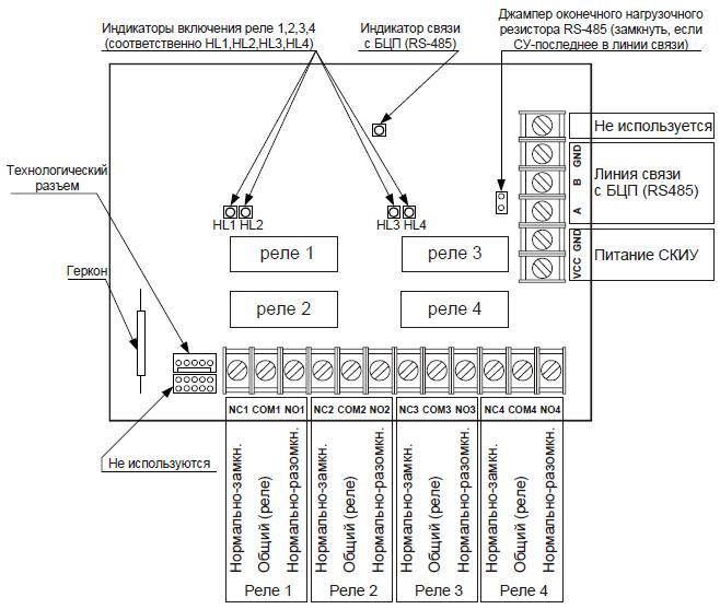"""Схема подключения """"СКИУ-01"""""""